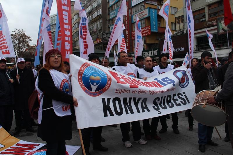 EĞİTİM İŞ'E ANKARA'DA GAZLI MÜDAHALE