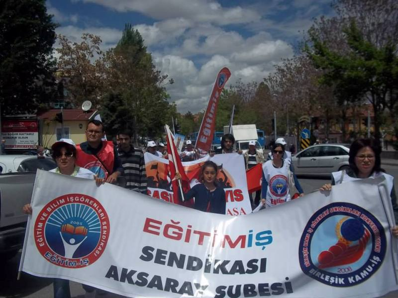 1 MAYIS'TA TÜM TÜRKİYE'DE ALANLARDAYDIK