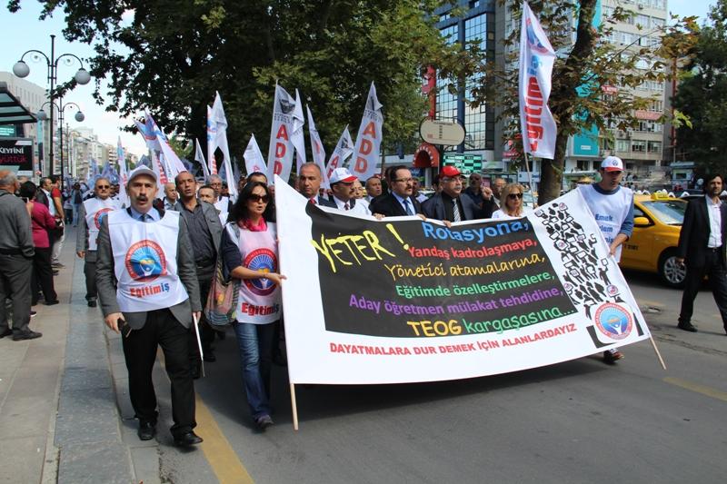 TÜM TÜRKİYE'DE AKP'NİN EĞİTİM POLİTİKALARINA KARŞI GREVDEYİZ