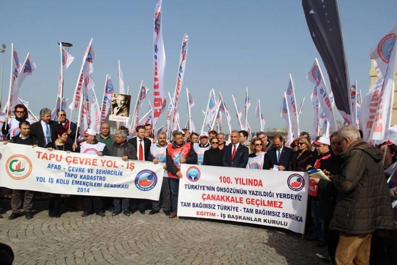 """EĞİTİM-İŞ'TEN """"TAM BAĞIMSIZ TÜRKİYE"""" YÜRÜYÜŞÜ"""