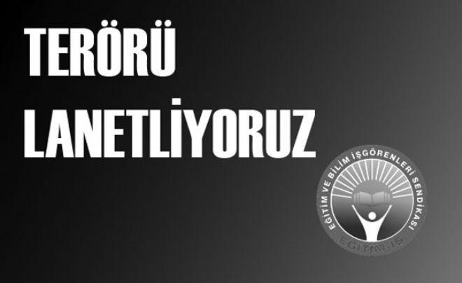 İSTANBUL VEZNECİLER'DEKİ TERÖR SALDIRISINI LANETLİYORUZ